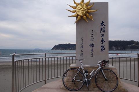 ふぅ,心拍170でココまで帰ってきましたた@逗子海岸。