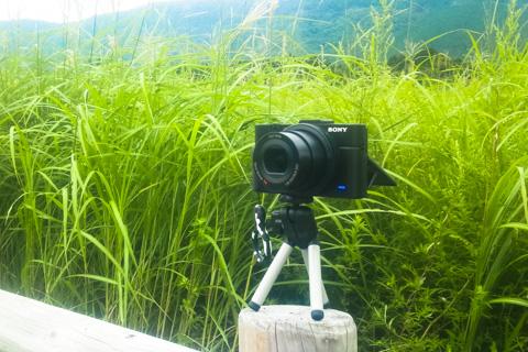 コンパクトデジカメなので,ツーリング先でもこんな風に自分撮りできます(^^) @箱根