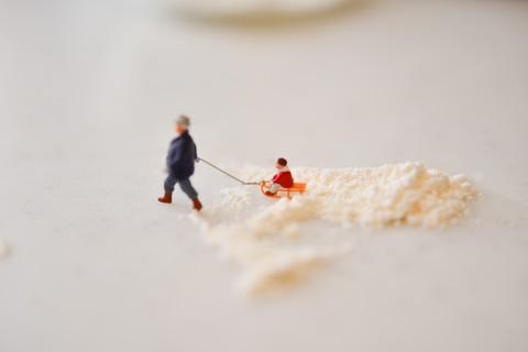 この前,撮ったのはカウンターにこぼれた小麦粉でした(笑)