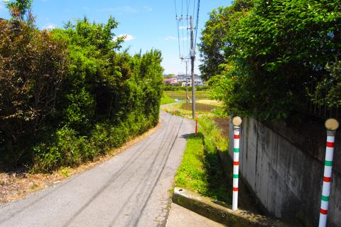 ヤビツの帰り。大通り(国道246)を通らず,こんな小道を(^^)
