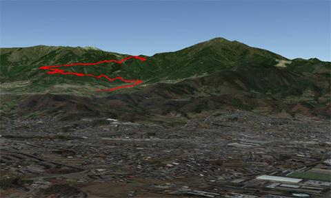 やっぱり,大山よりかなり低いところがヤビツ峠なんですね。