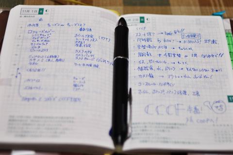 前夜に,Noguさんとコメダで打ち合わせた作戦ノート。この綿密な作戦が勝利を呼び込んだ!(うそ)