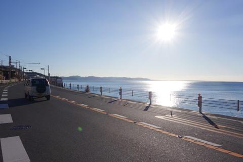 40日ぶりに走る海辺コース。いいあぁ,気持ちいい!