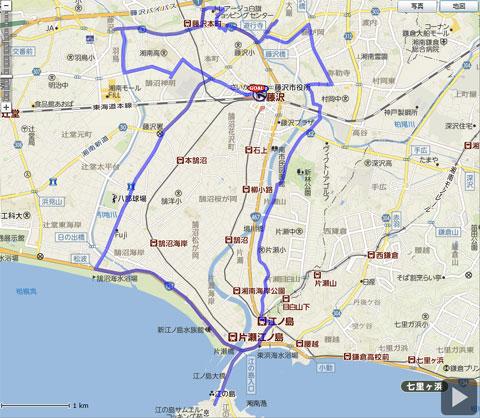 今回の走破ルート(おーばー?) およそ15kmです。