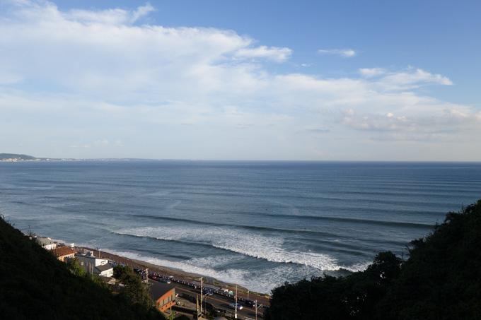 ちょっとした丘から,湘南の海を見下ろすことができます。