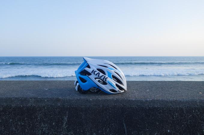 新しいヘルメット(KASK MOJITO)も,まだ1回しかかぶってないない~