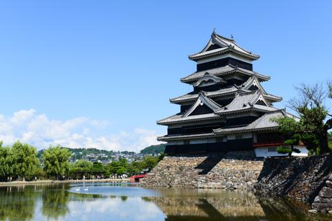 誰が撮ってもこうなる,典型的な松本城です(^^)