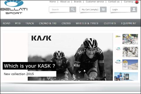 トップ画面がこれですから,BellatiSportsはKASKに力を入れているようです。