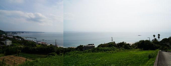 写真を2枚つないでみました。とにかく,すごいパノラマでした~(^^)