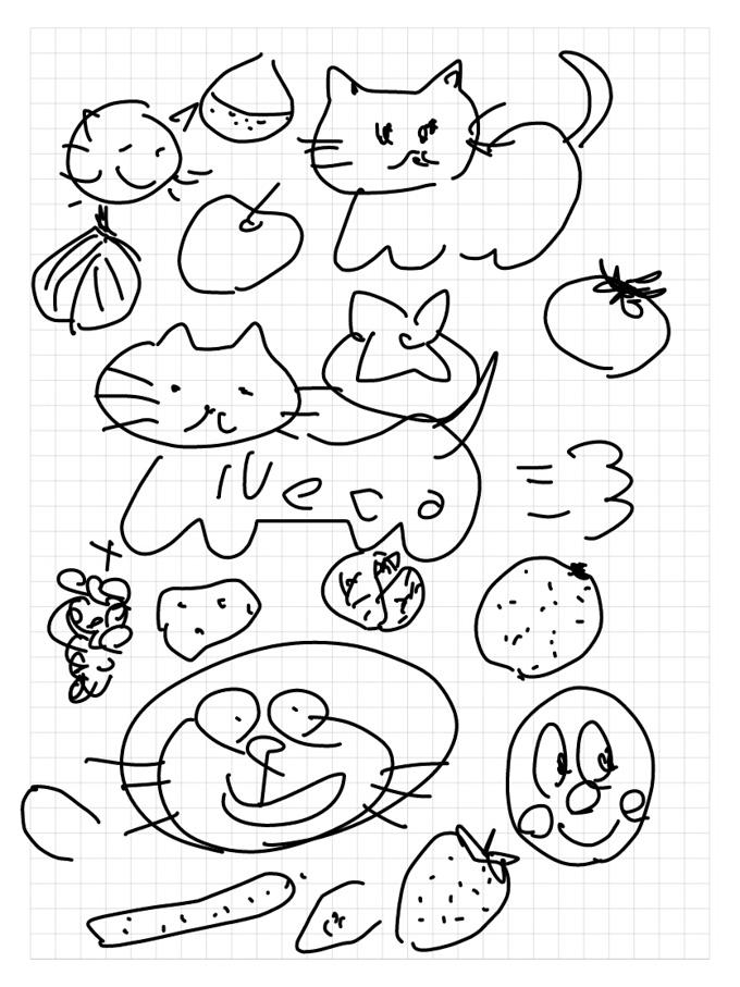 練習中。どんなにがんばっても,うまく描けないところがいい(笑)