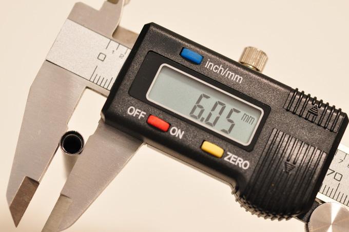 正しく測りなおしてみたら,なんと「6.05mm」でした・・・。