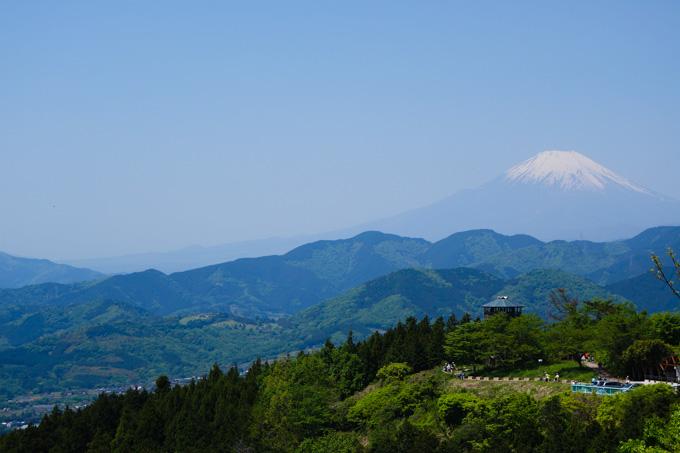 今シーズン6回目のヤビツで,初めて見ることができた富士山。来月には登るからね~!!