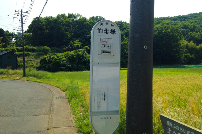 ふ~ん,バス停かぁ~。え! おばさま!?