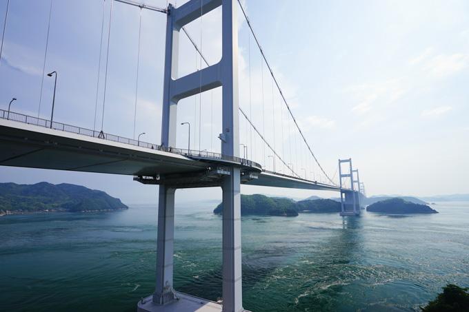 初日に走った来島海峡大橋。最高の眺めでした~!(^^)