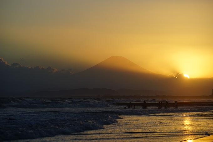 家に帰ろうと思ったら・・・富士山!!