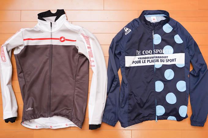 左が今年のカステリジャケット。右は,昨年までの山岳賞ジャージ(^^)