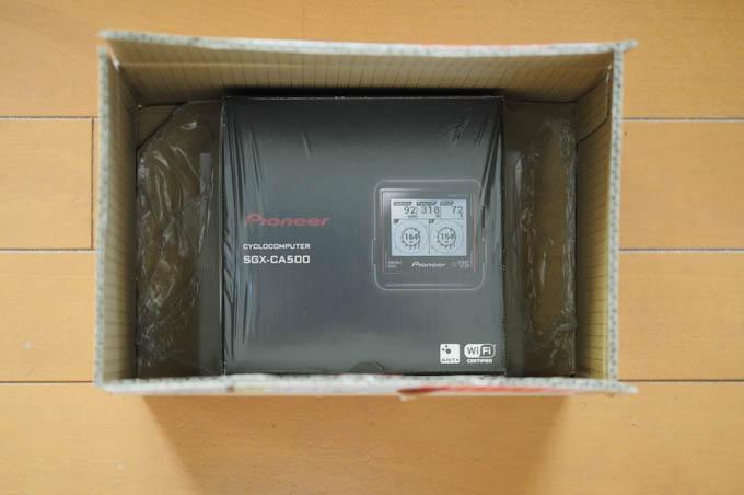 ペダモニのサイコン(SGX-CA500)が到着した時の様子。心踊る瞬間である(^^)
