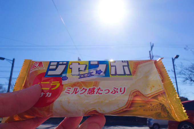 あんまり暖かいのでアイスも食べちゃいました。真冬の寒さでも食べますけどね・・・(笑)