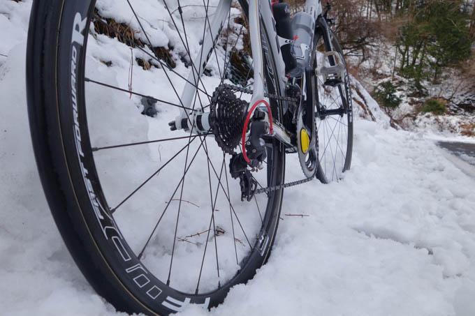 雪道に突っ込んでしまい,大幅にタイムを失う。これさえなければ,40分なんて余裕だったんだけどなぁ・・・。