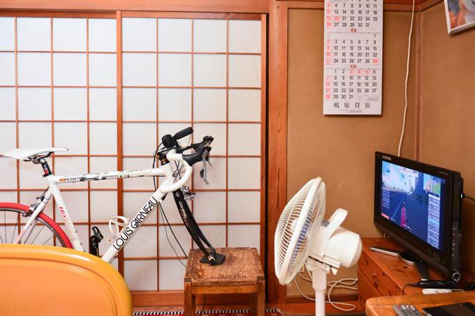 ド和風な、単身赴任先の部屋(^^) RHC号でもパワートレーニング!