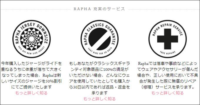 右端のがRaphaリペアサービス(^^)