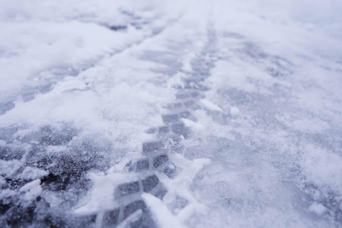 ここまで融けて、積雪も薄くなっていると平気です。