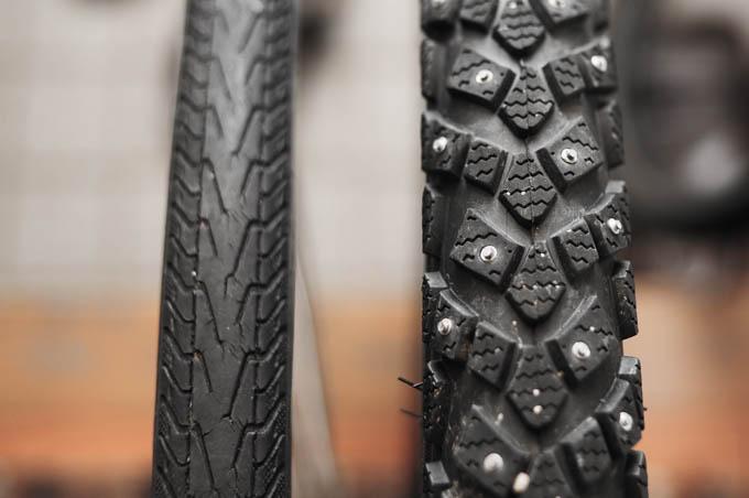 スパイクタイヤからノーマルタイヤへ。春もすぐそこです。