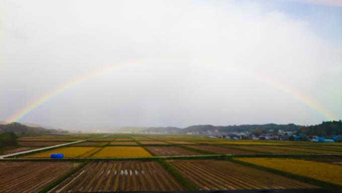 早起きは三文の徳。こんな素晴らしい虹に出会うことも(^^)