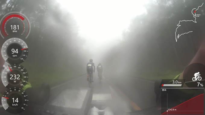 序盤は濃霧の中でのスタートでした。これはこれで楽しい(^^)