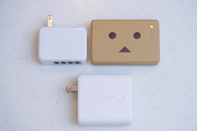 上のセット(バッテリー+USB充電器)が、下のFusion 5000で置き換わります。