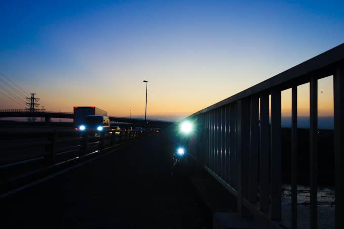 ライトが2個あると夜も安心です。