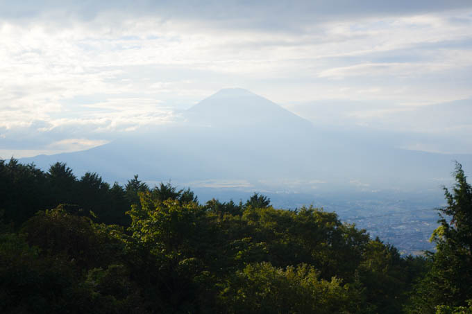 富士山。自転車はガタガタだけど心安らぐ(少しだけ)
