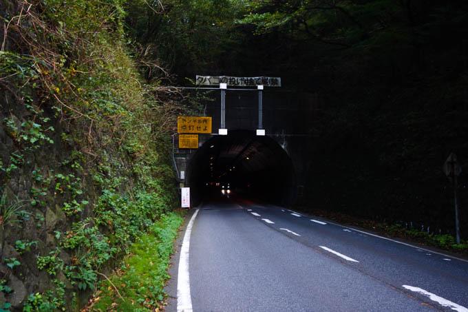 乙女トンネル。狭い・暗い・クルマ多い、怖いよ~(T T)