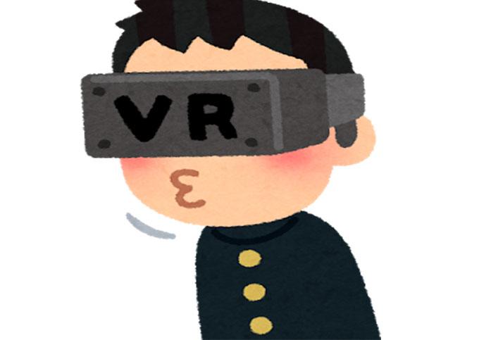 怪しいゲーム(?)をVRにてプレイ中。他人に見られたら死にたくなるなぁ・・・(笑)