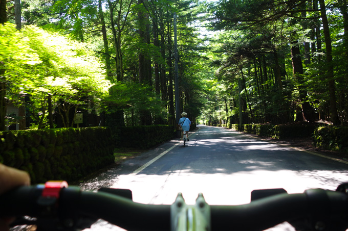 新緑の中を軽快にサイクリング。涼しくて気分爽快です(^^)