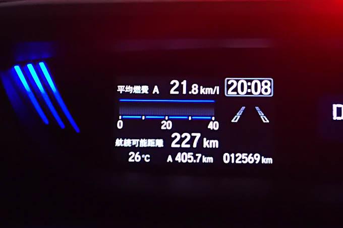 400km走って、FREED号の燃費は21.8km/L。よく走ります(^^)