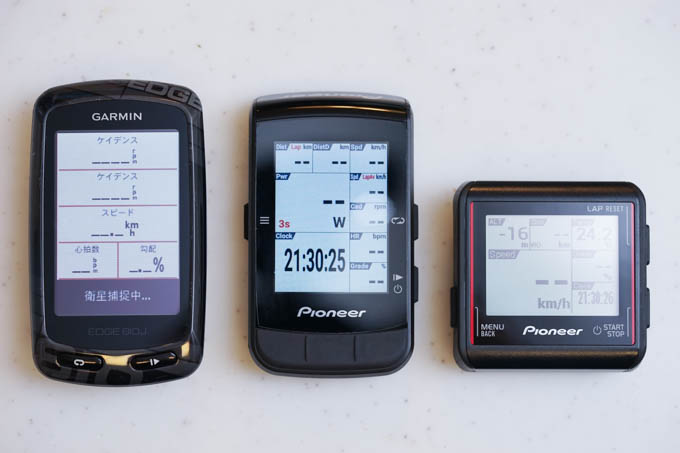 左から、Edge810J、CA600、CA500。より普通っぽいデザインになりました。