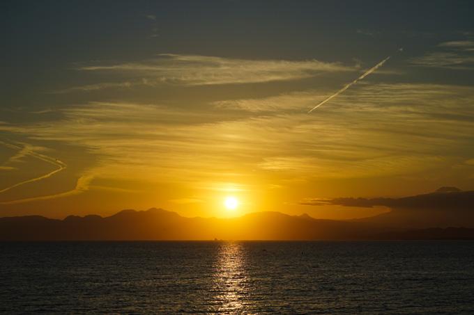 あと数分で日が沈みます。