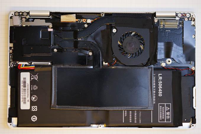 ファンの右横のスペースがSSD増設用M.2スロット。