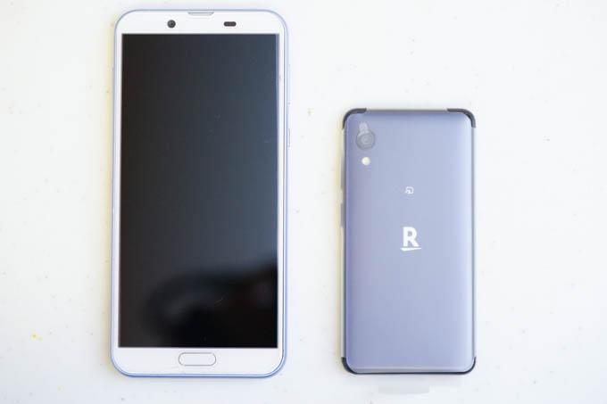 左が現行SH-M08、右が新登場Rakuten Mini。