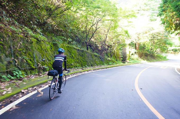 箱根旧道を快走中。ここで足を使い過ぎたんだなぁ・・・。