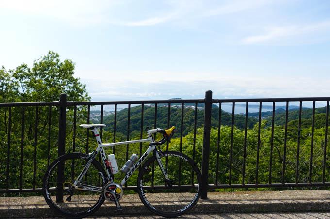 頂上付近からの景色。