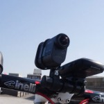 SONY アクションカム(HDR-AS15)の自転車固定方法模索