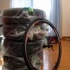 自動車タイヤ交換に見る,スポーツバイクの効率の良さ(^^)