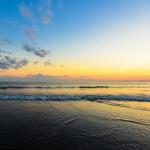 この秋初,夕方の鵠沼海岸フォトポタ
